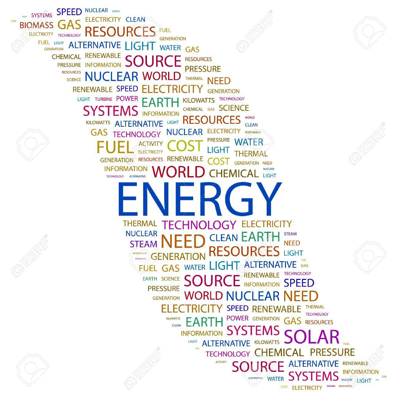 ENERGY. Word collage on white background. illustration. Stock Vector - 7338079