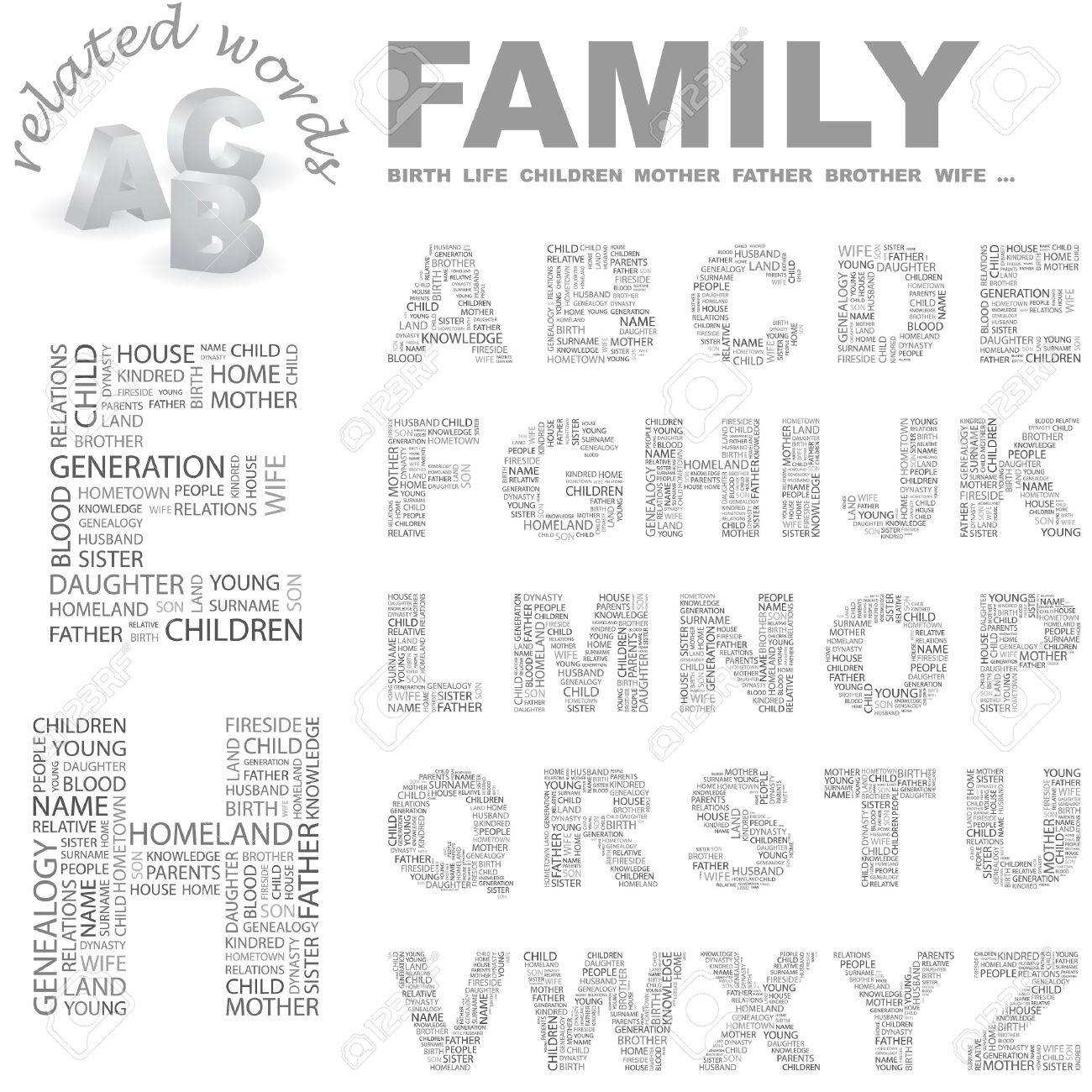 FAMILY. Word cloud illustration. Stock Vector - 7349250