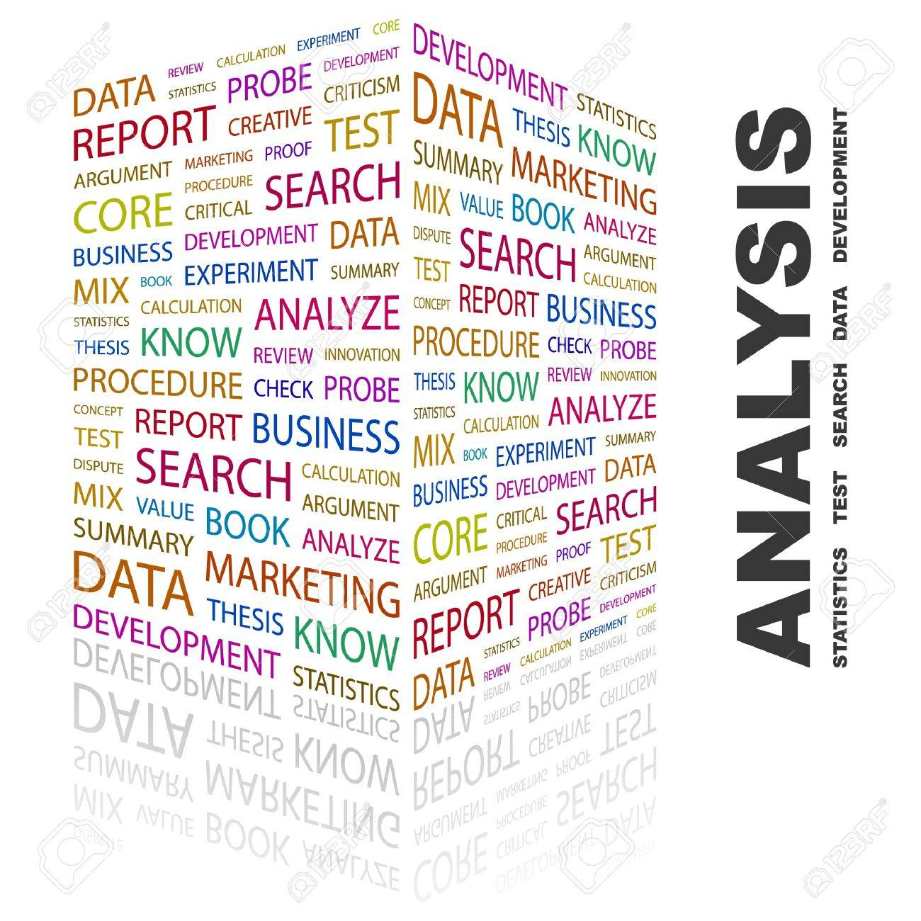 ANALYSIS. Word collage on white background. illustration. Stock Vector - 7340703