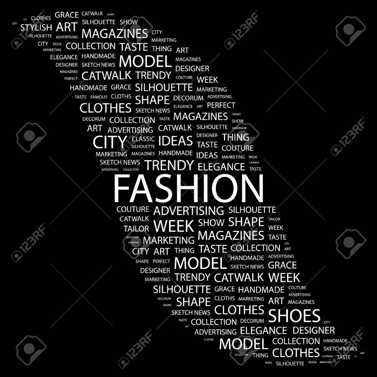Collage fashion backgrounds black and white