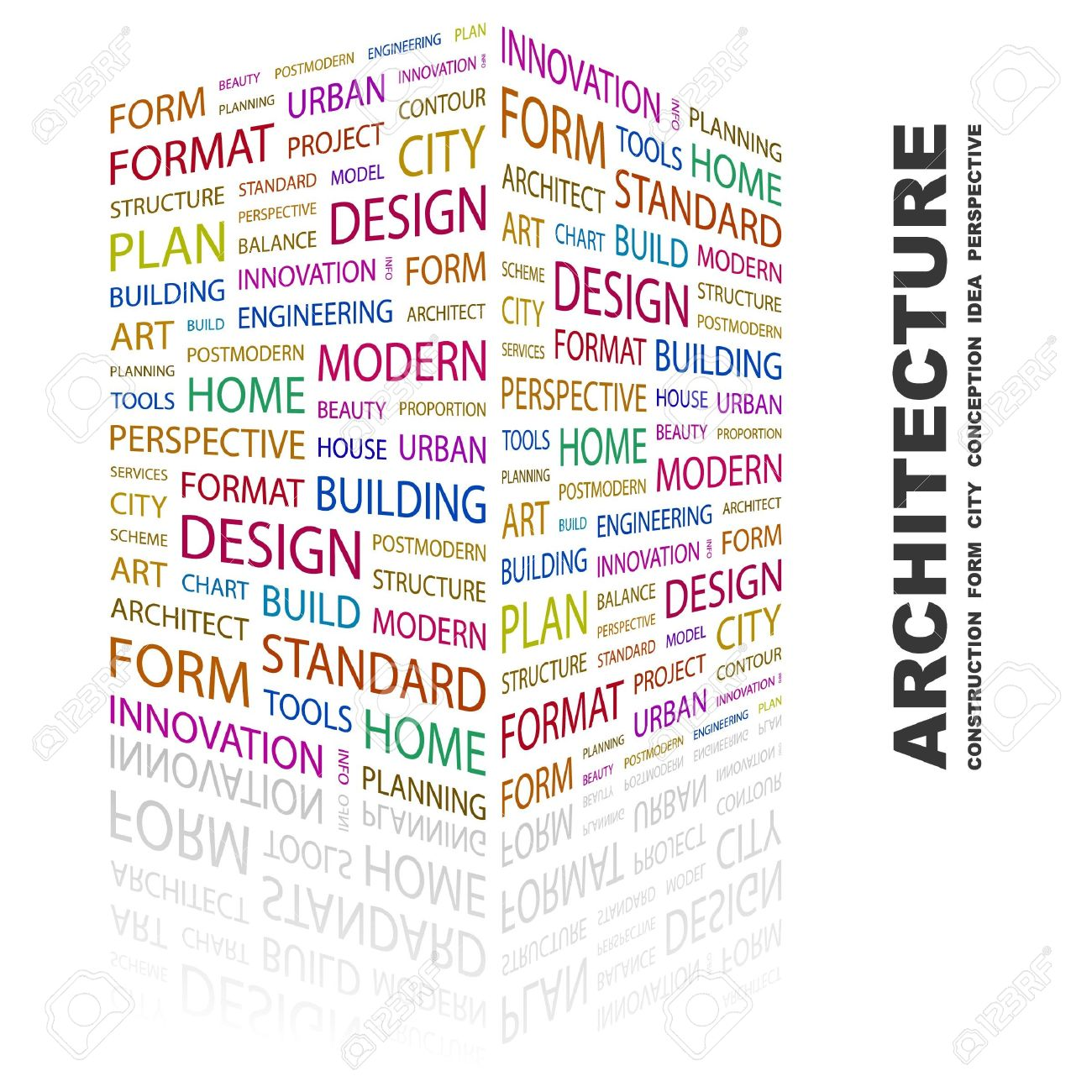 ARCHITECTURE. Word collage on white background.  illustration. Stock Vector - 7357231