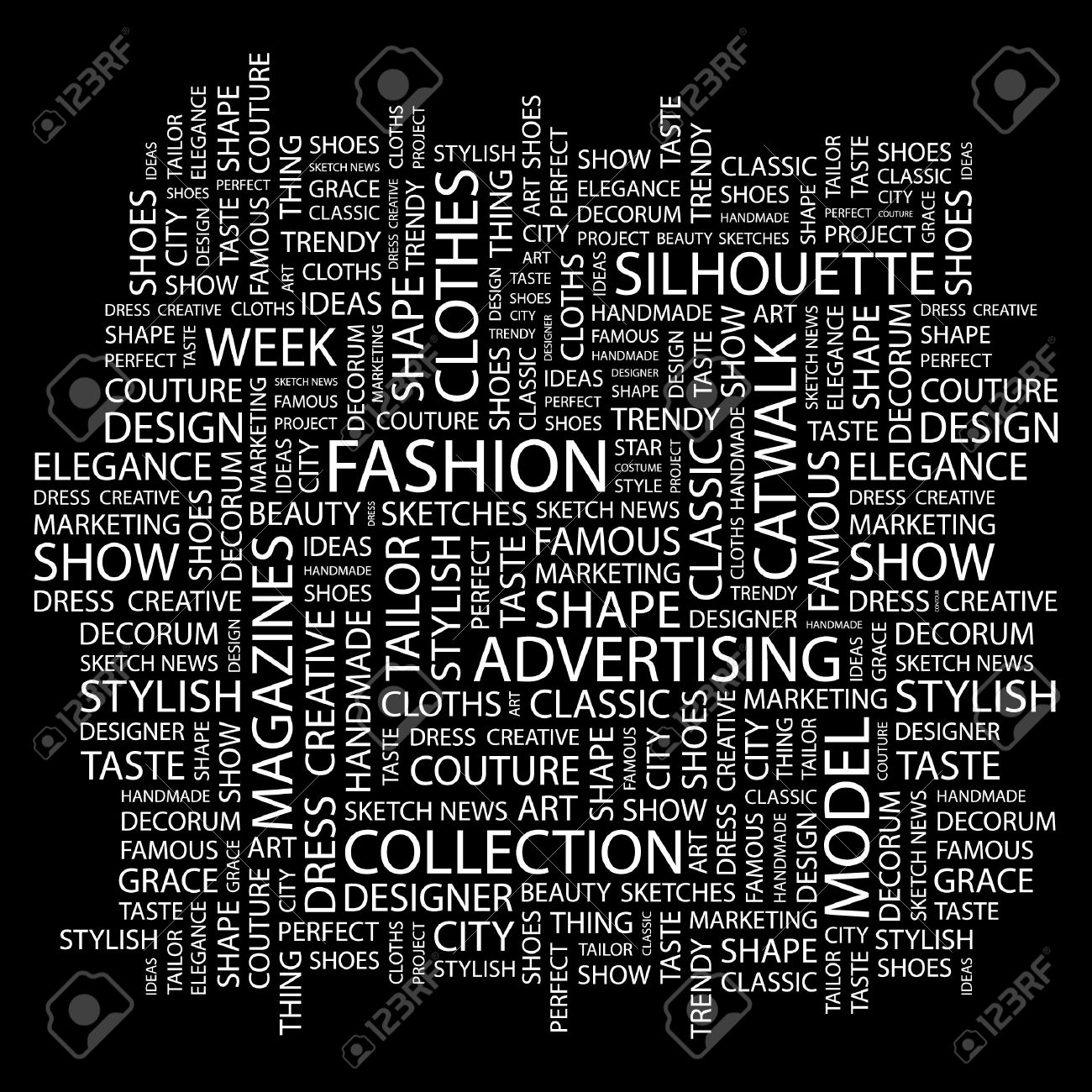 Collage fashion backgrounds black and white exclusive photo