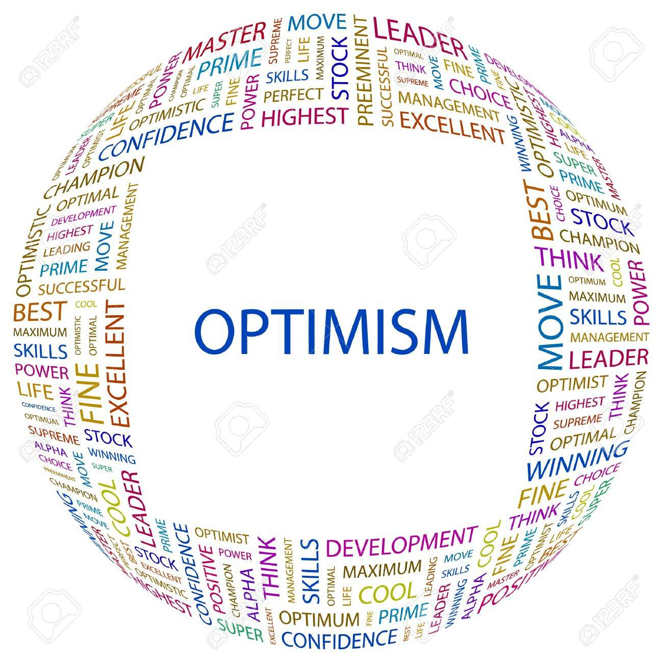 OPTIMISM. Word collage on white background. Vector illustration. Stock Vector - 7371319