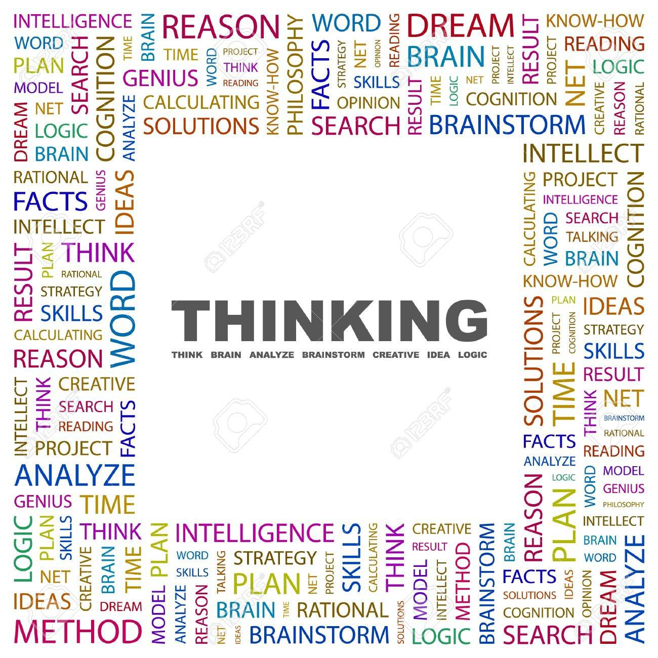 THINKING. Word collage on white background. Vector illustration. Stock Vector - 7363524