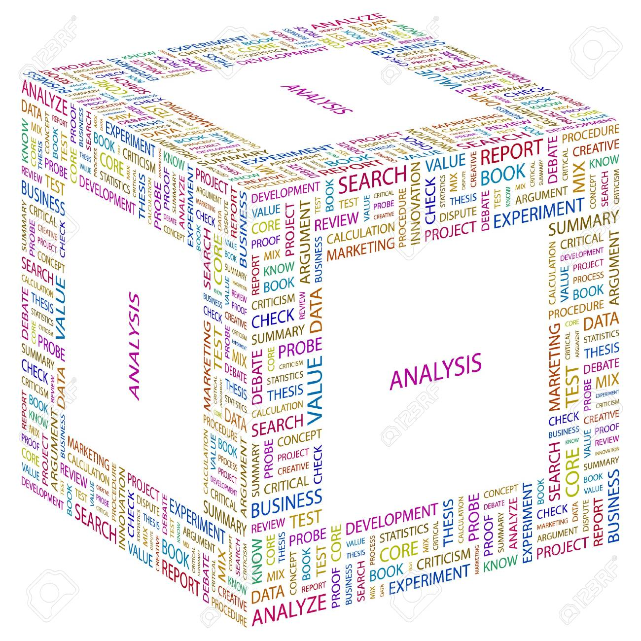 ANALYSIS. Word collage on white background. Vector illustration. Stock Vector - 7371807