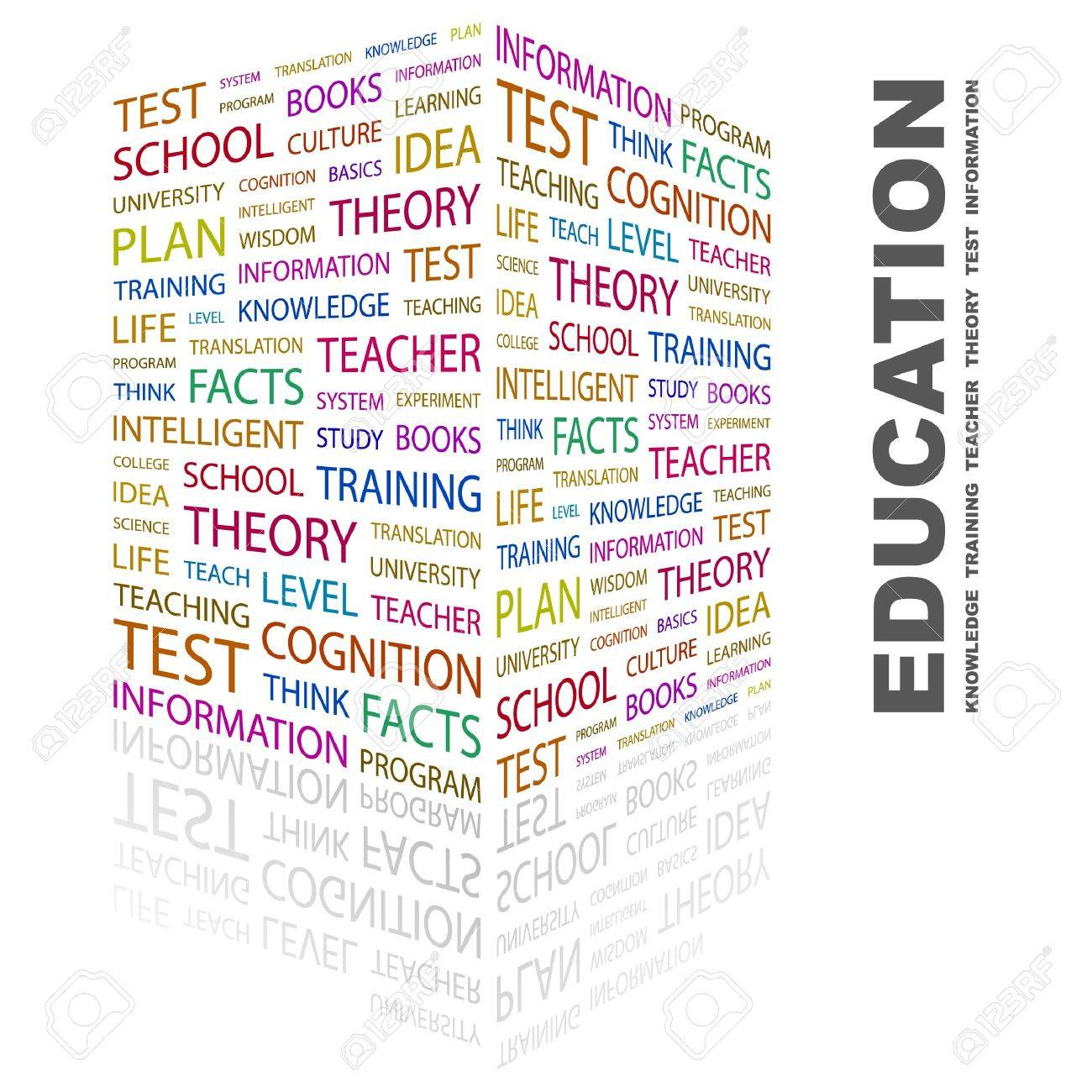 EDUCATION. Word collage on white background. Vector illustration. Stock Vector - 7371632