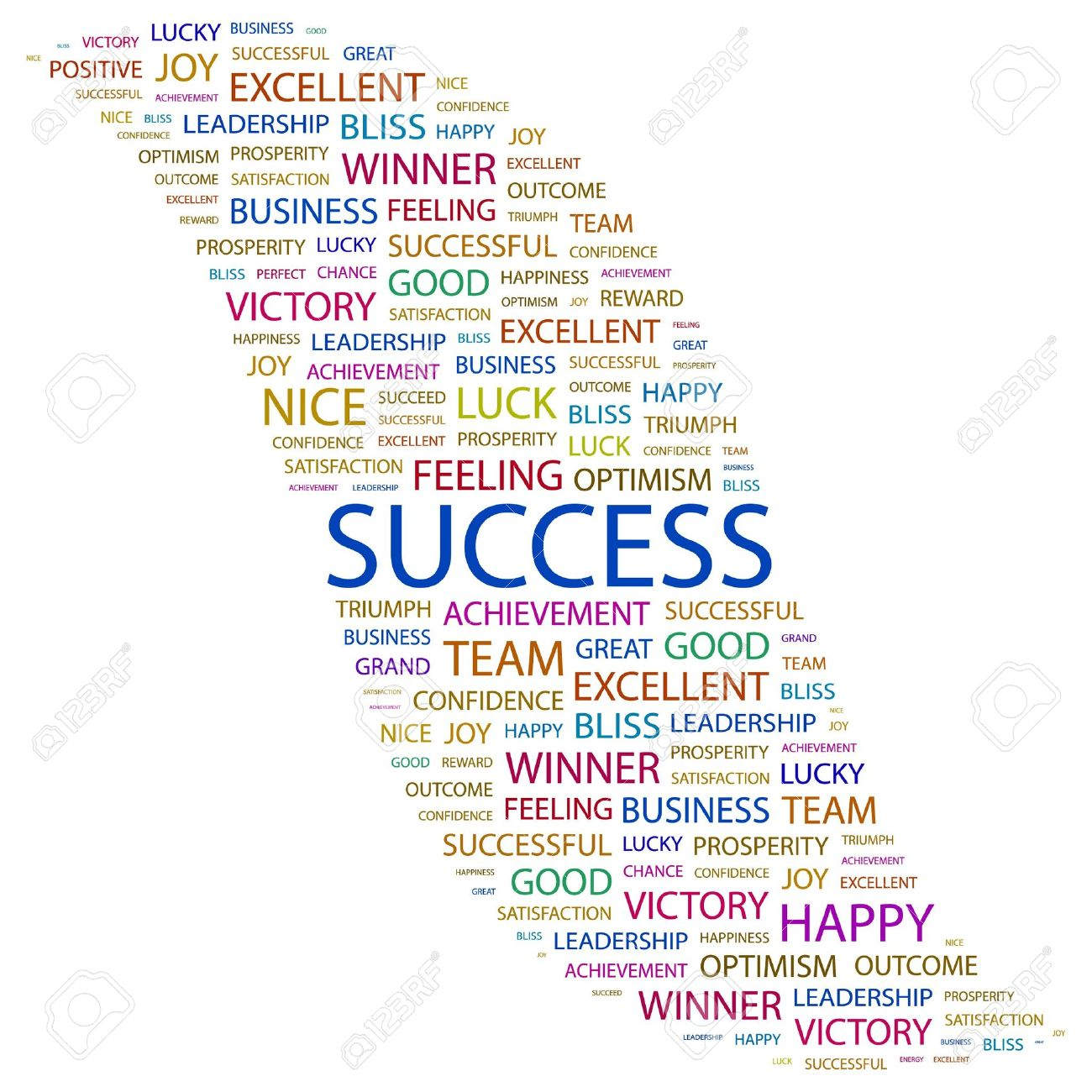 SUCCESS. Word collage on white background. Vector illustration. Stock Vector - 7371495