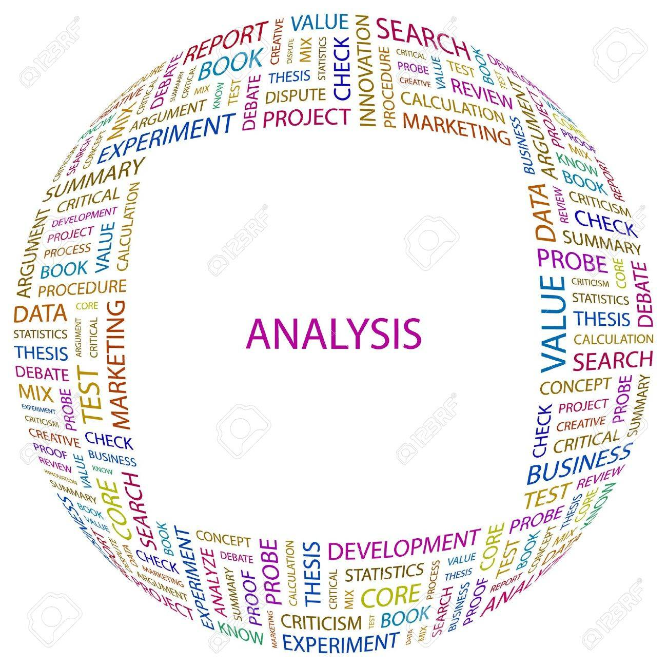 ANALYSIS. Word collage on white background. Vector illustration. Stock Vector - 7371468