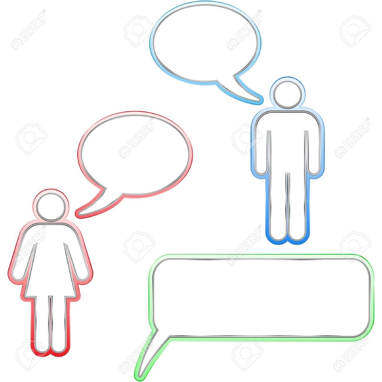 Speech bubble buttons. Stock Vector - 7482232