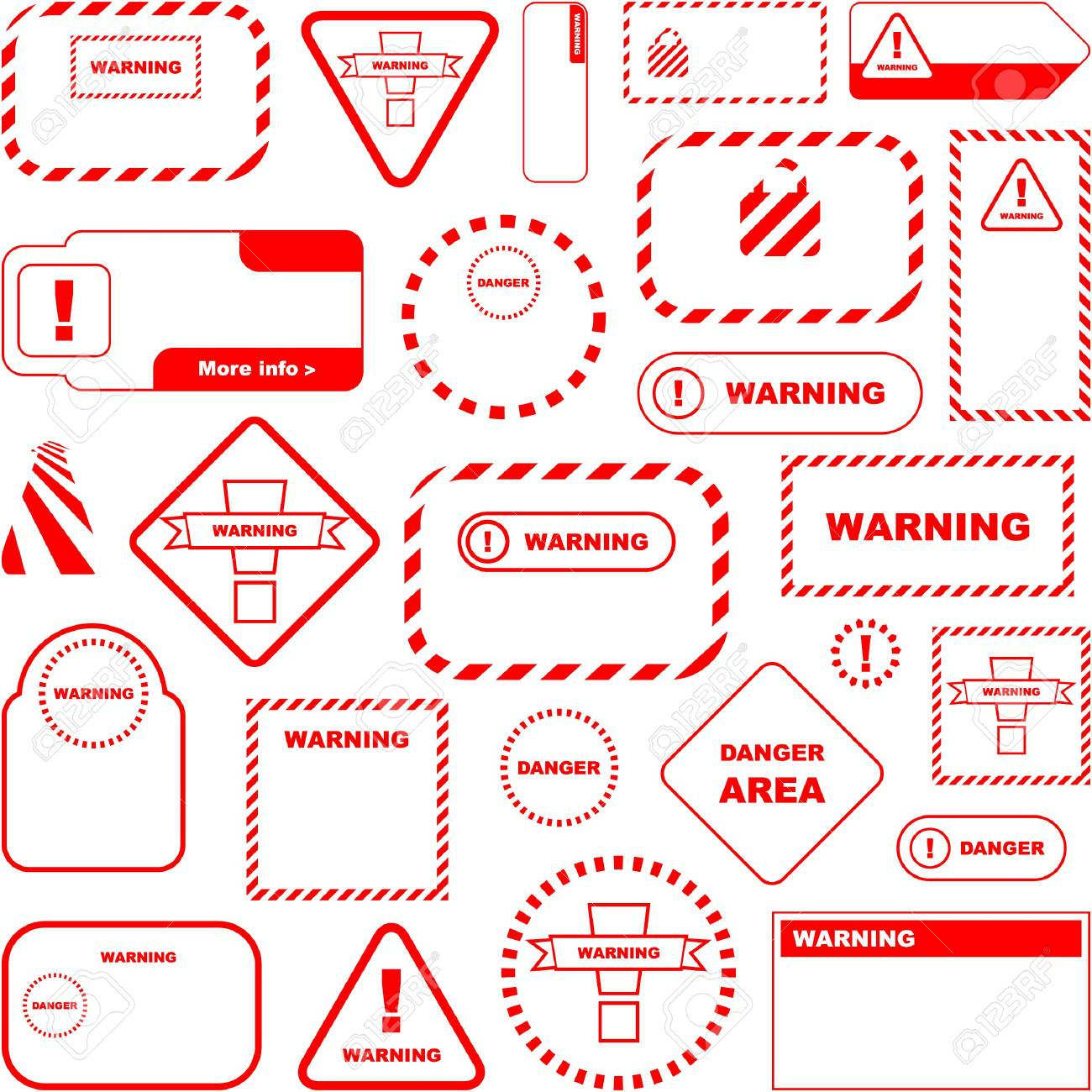 Warning   sign.   great collection. Stock Vector - 7491353