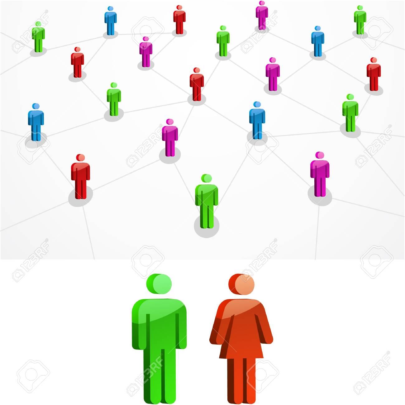 Network concept.  illustration. Stock Vector - 7568197