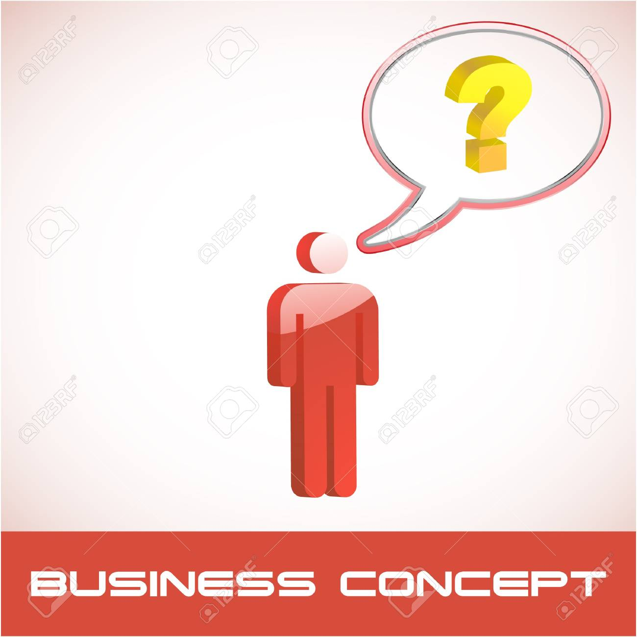 Question concept.  illustration. Stock Vector - 7568186