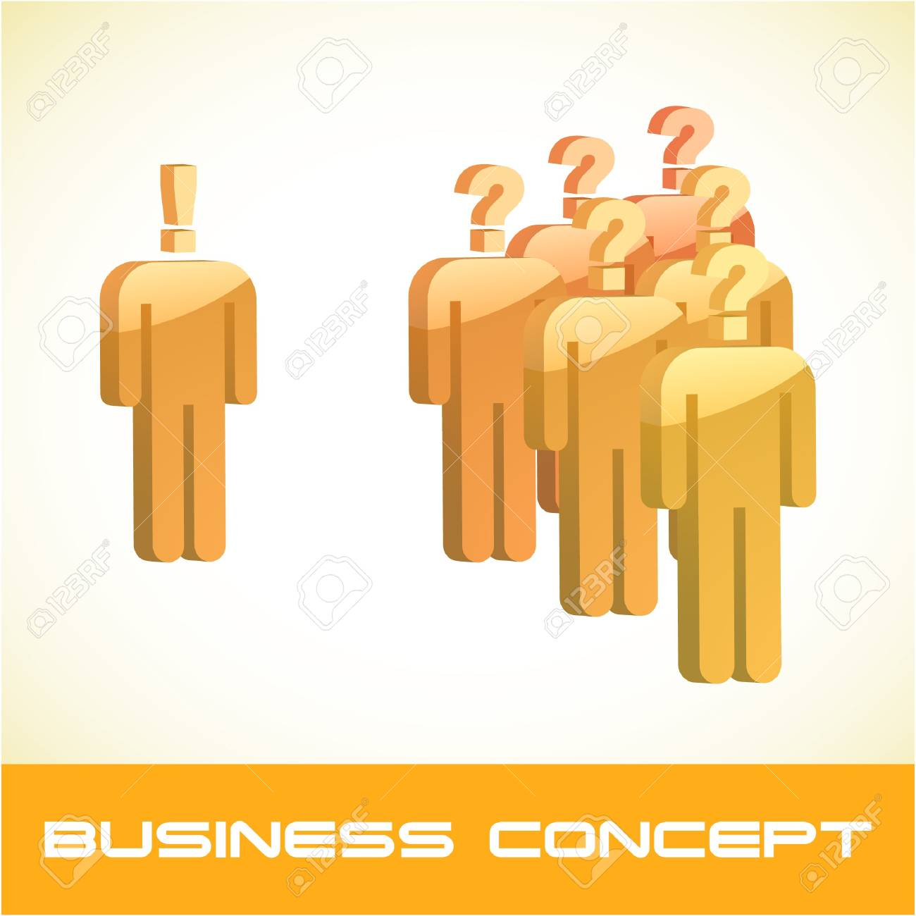 Question concept.  illustration. Stock Vector - 7568195