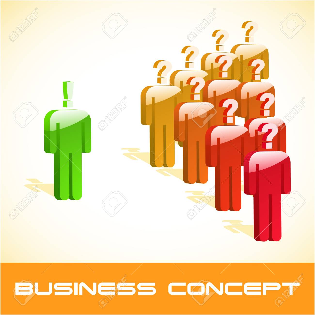 Question concept.  illustration. Stock Vector - 7568366