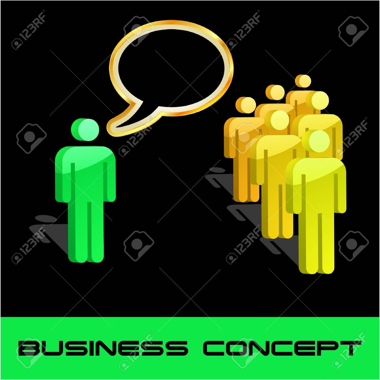 Speech business concept. illustration. Stock Vector - 7587314
