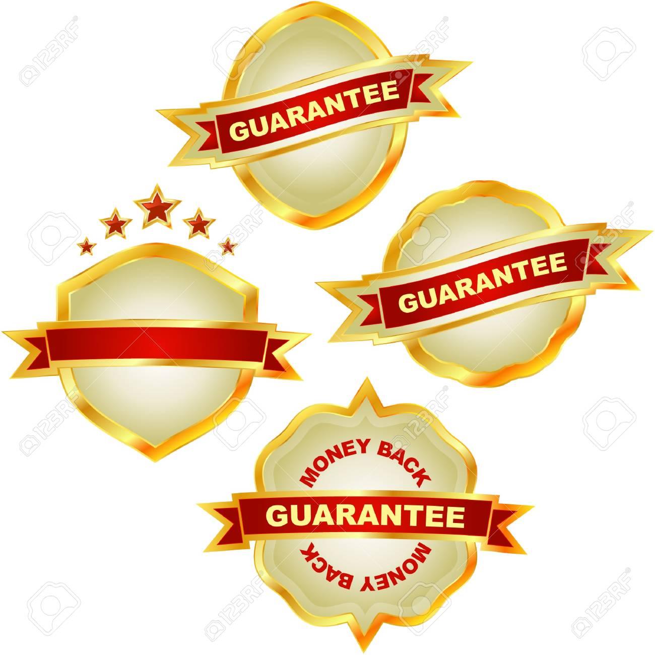 Guarantee label set. Stock Vector - 7800512