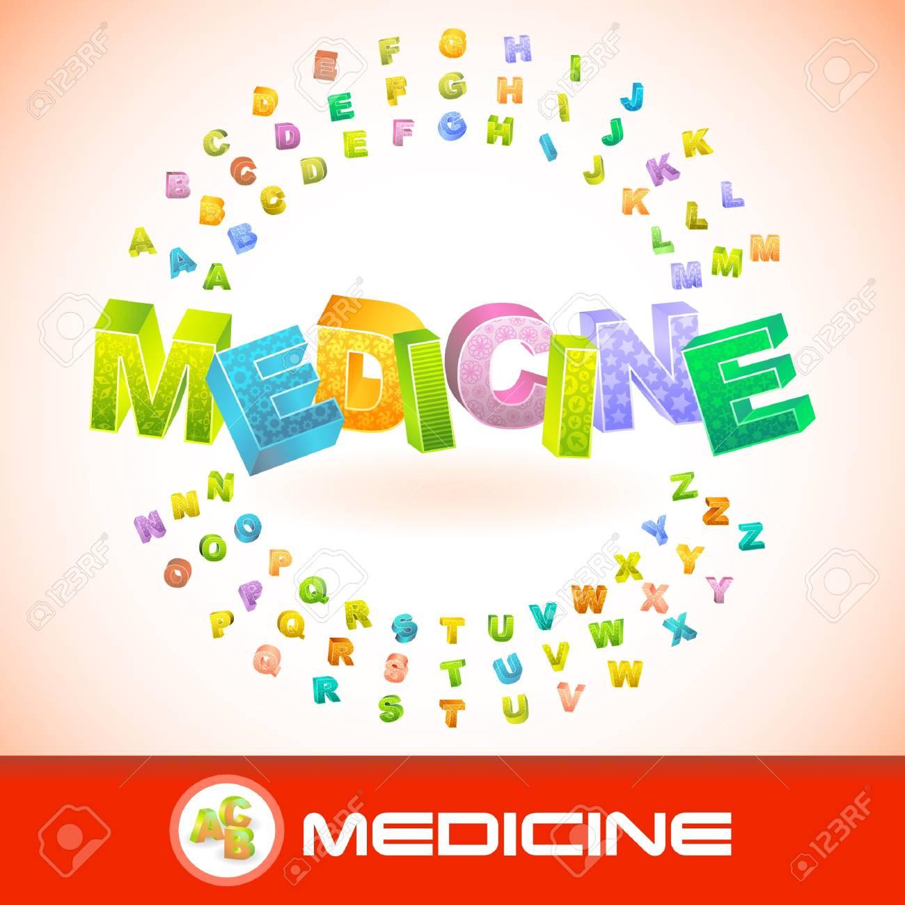 MEDICINE. 3d illustration. Stock Vector - 7819581