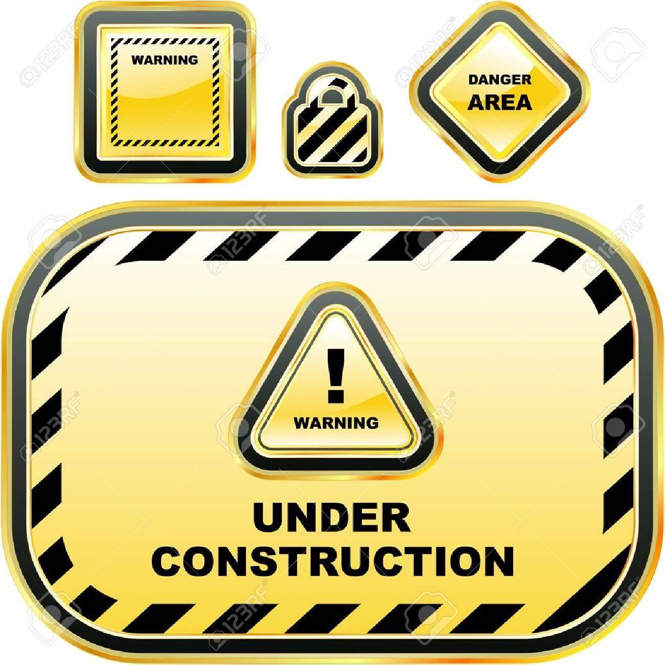 Warning label set. Stock Vector - 7819607