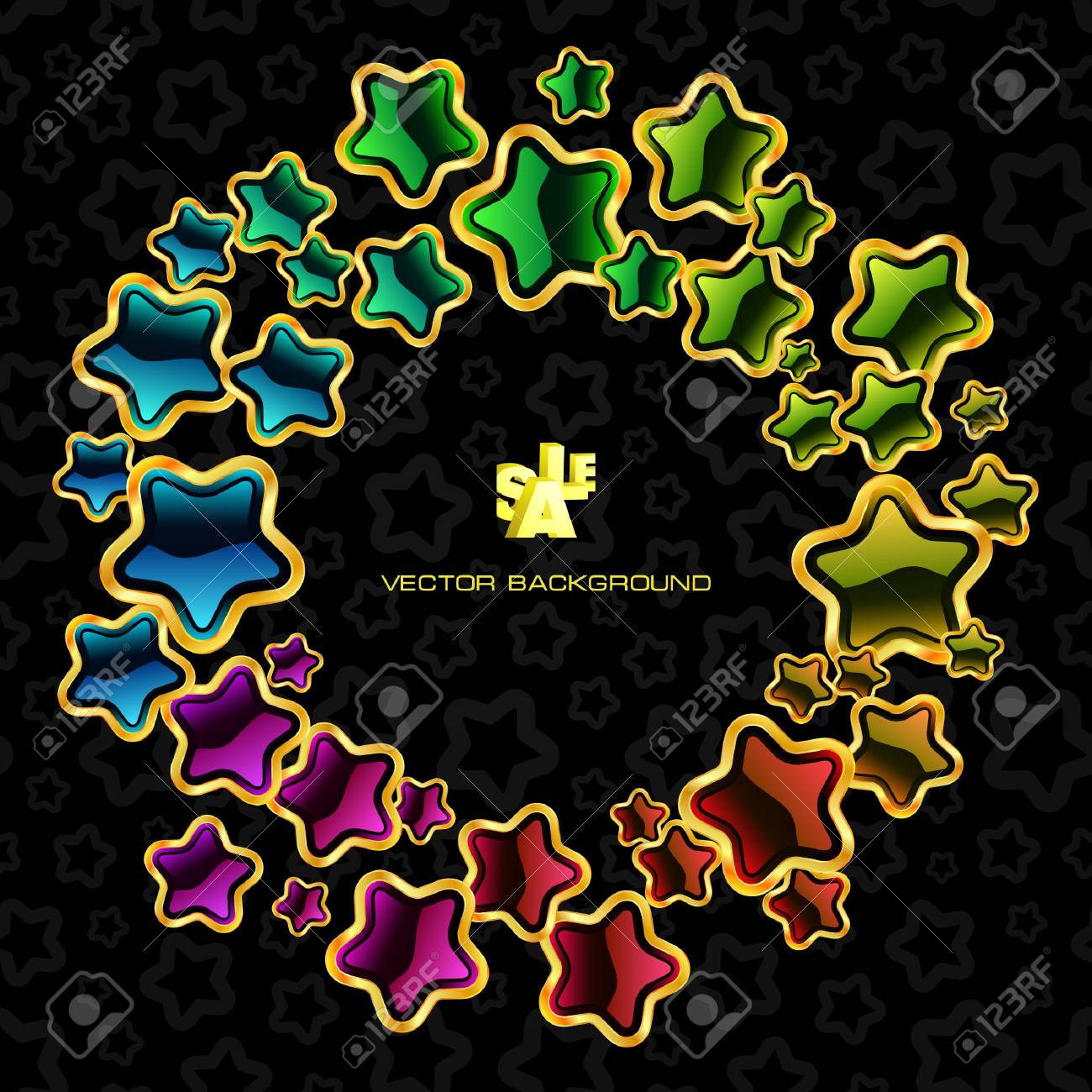Abstract background with stars. Stock Vector - 7800768