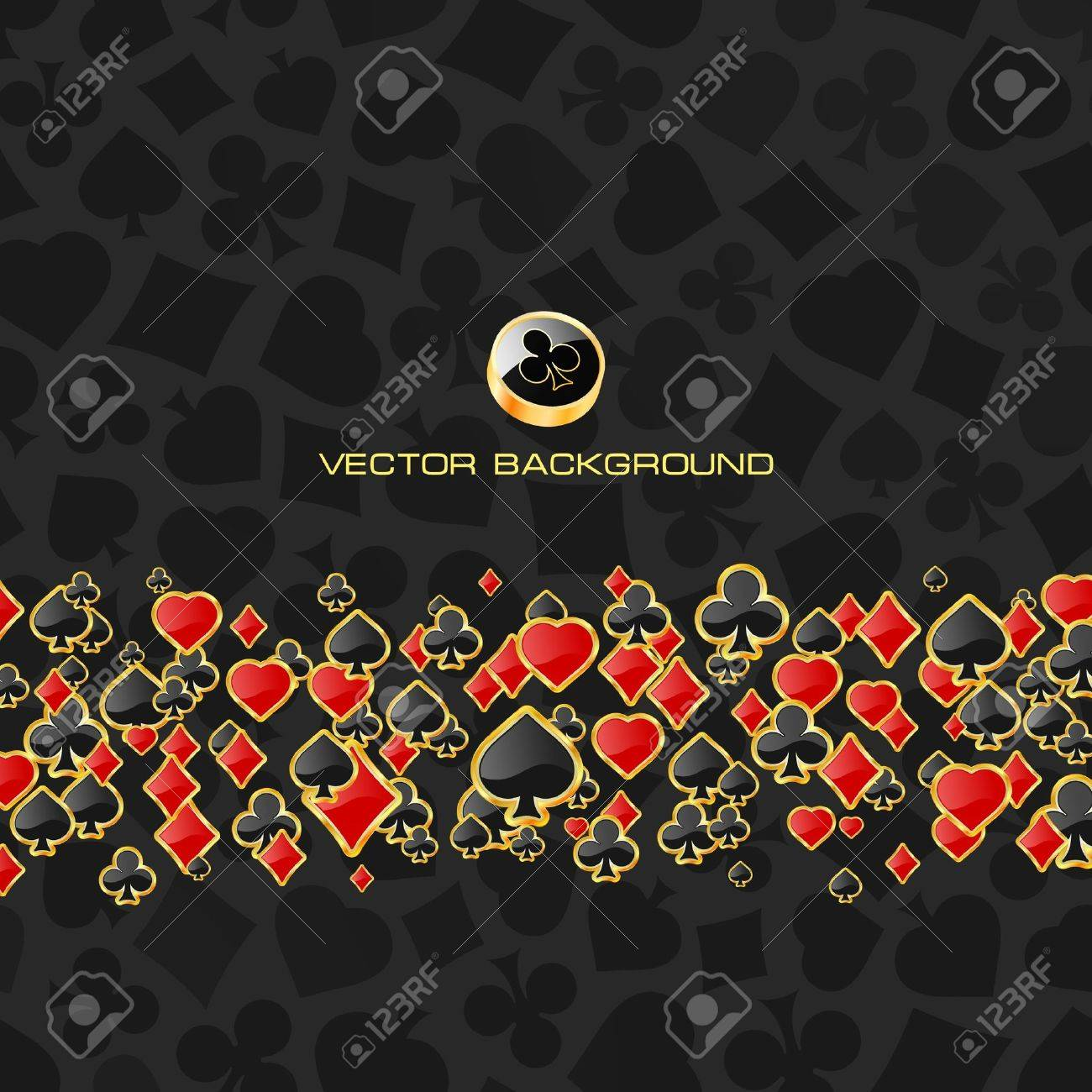 Abstract background with card suits. Stock Vector - 7800695