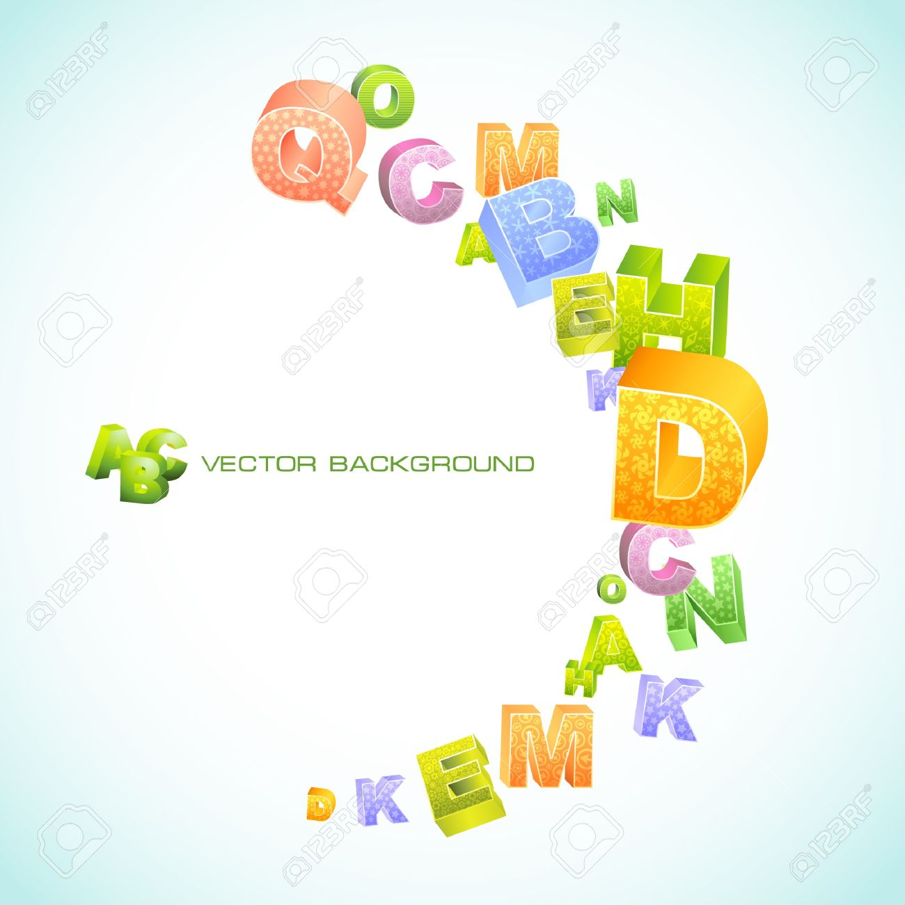 Abstract background with letters. Stock Vector - 7800685