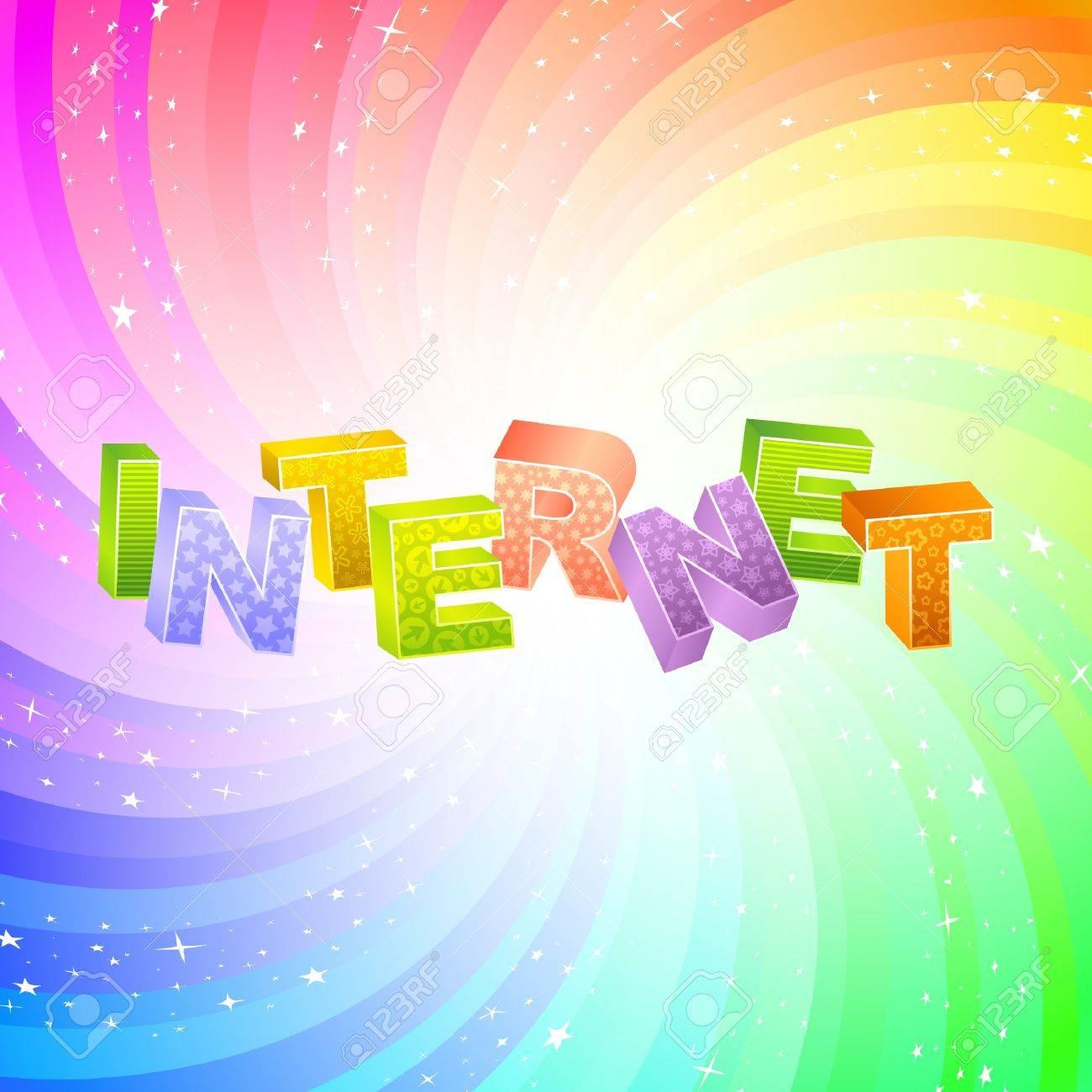 INTERNET. Rainbow 3d illustration. Stock Vector - 7800705