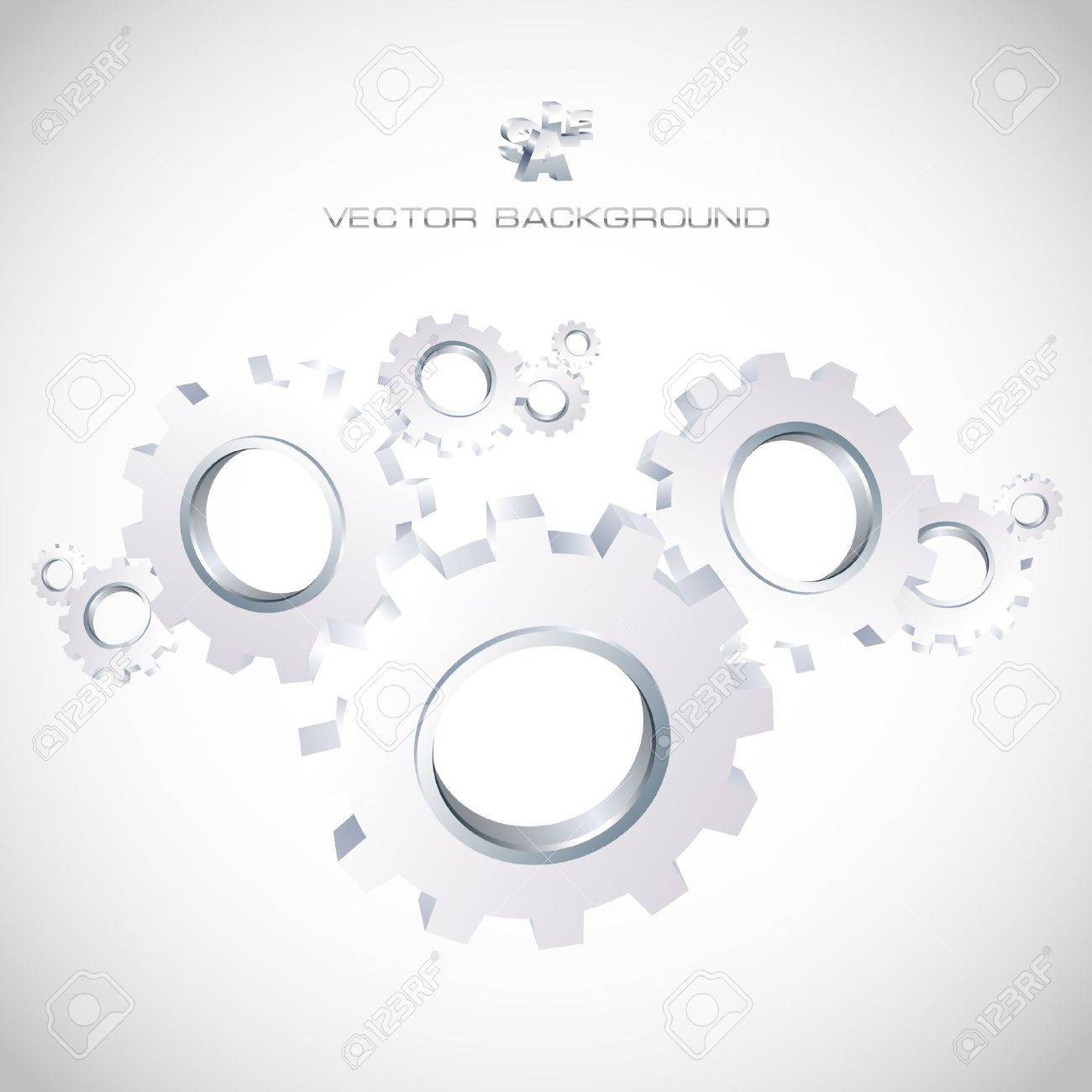Gear background. Abstract illustration. Stock Vector - 7881990