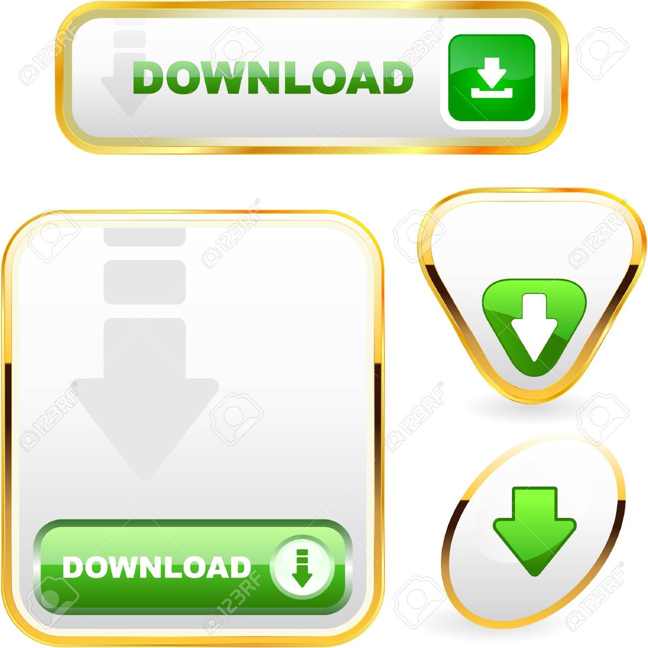Download button set. Stock Vector - 7800634