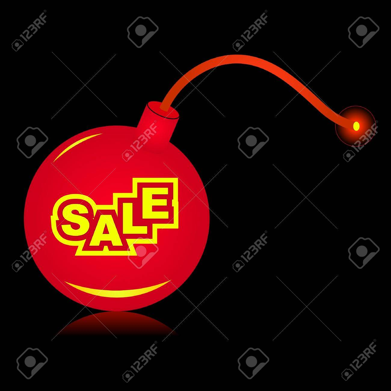 Bomb before explosion. Stock Vector - 7819749