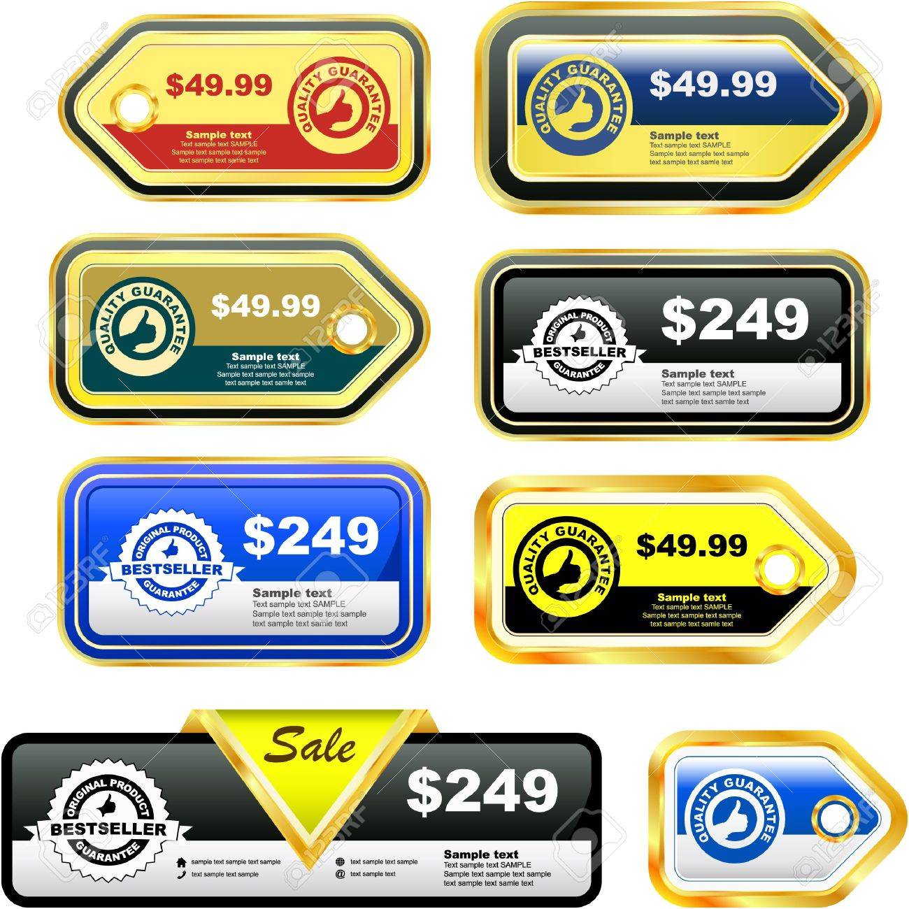 Great collection of sale tags. Stock Vector - 7819686