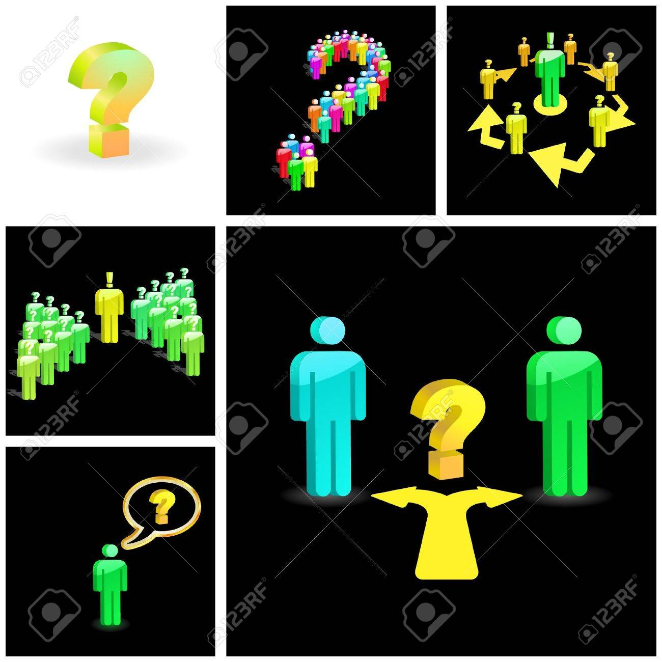 Question concept. Vector illustration. Stock Vector - 7852704