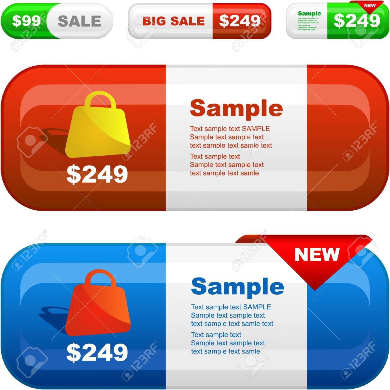 Banner set for sale. Stock Photo - 7880877