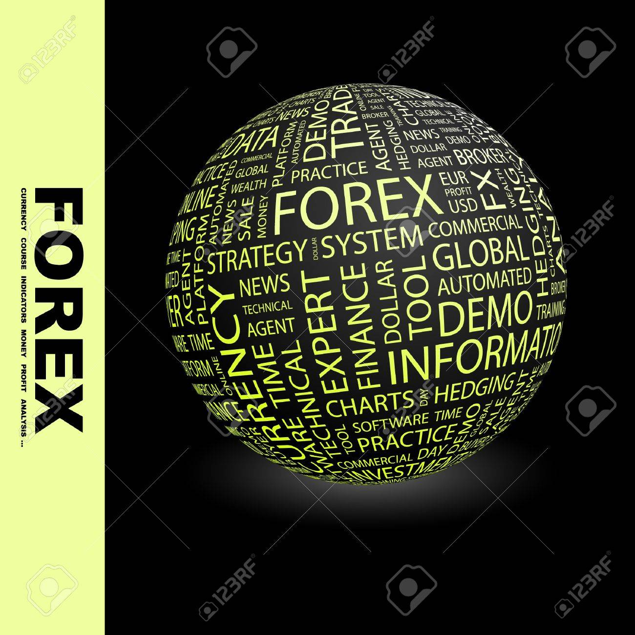 FOREX. Globe with different association terms. Stock Photo - 8238971