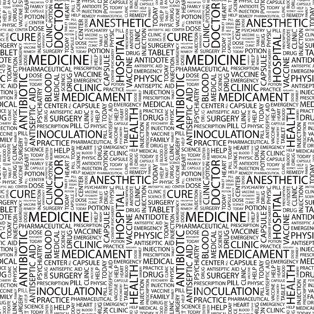 MEDICINE. Seamless background. Wordcloud illustration. Stock Photo - 7991583