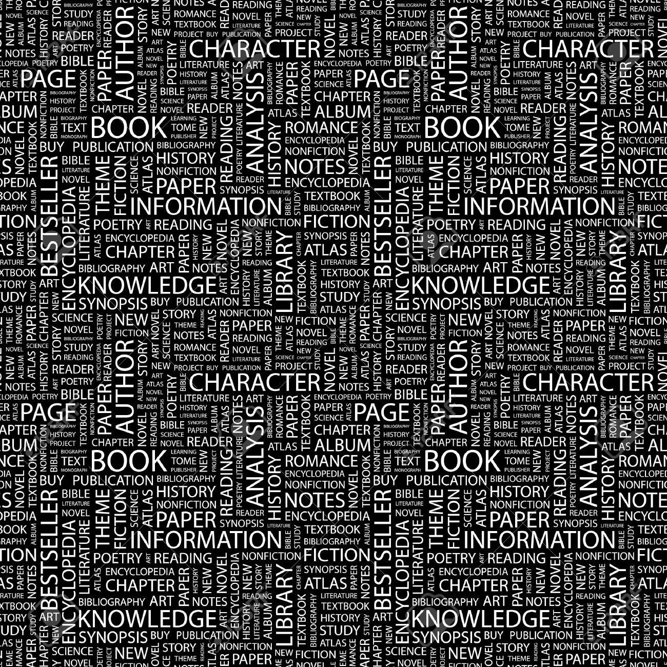 BOOK. Seamless pattern with word cloud. Stock Photo - 8292043