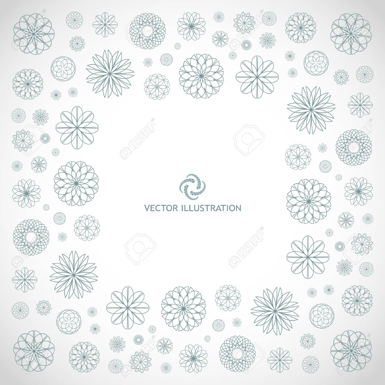 Abstract frame. Floral illustration. Stock Illustration - 8301846