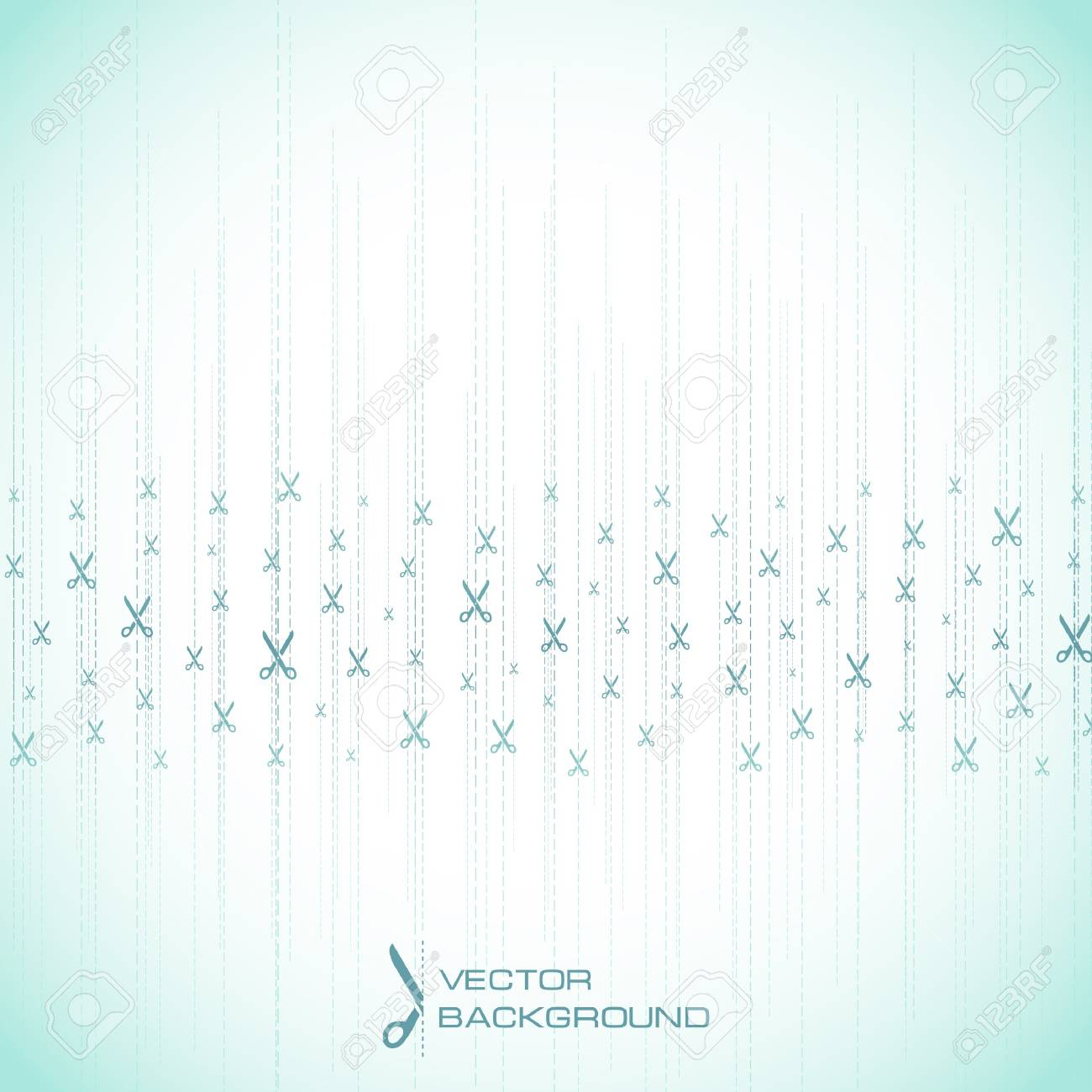 Abstract background with scissors Stock Photo - 8236867