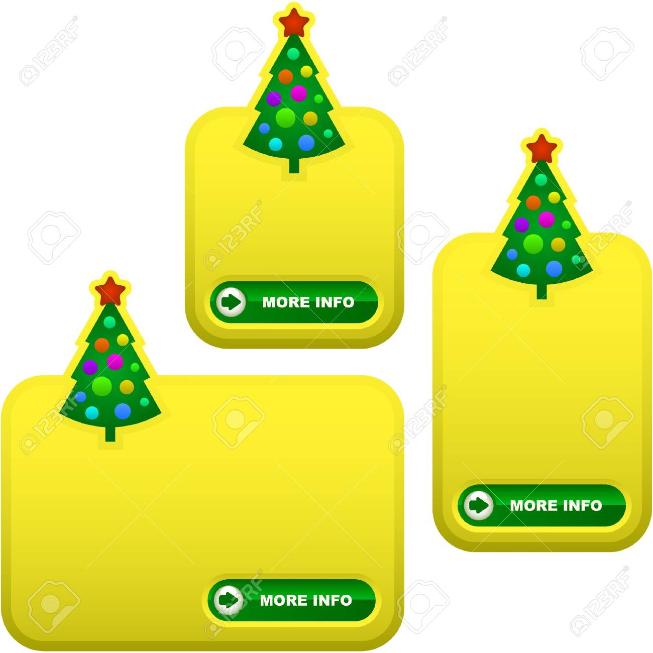 Set of New Year's banners for advertising Stock Photo - 8236824