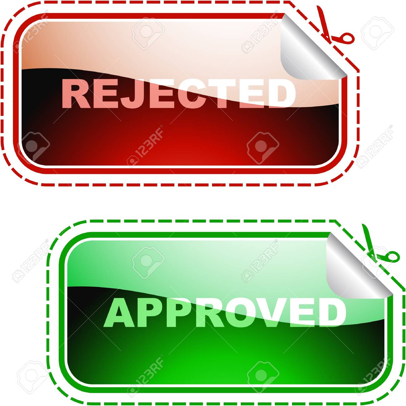 Approved and rejected elements. Stock Photo - 8238186
