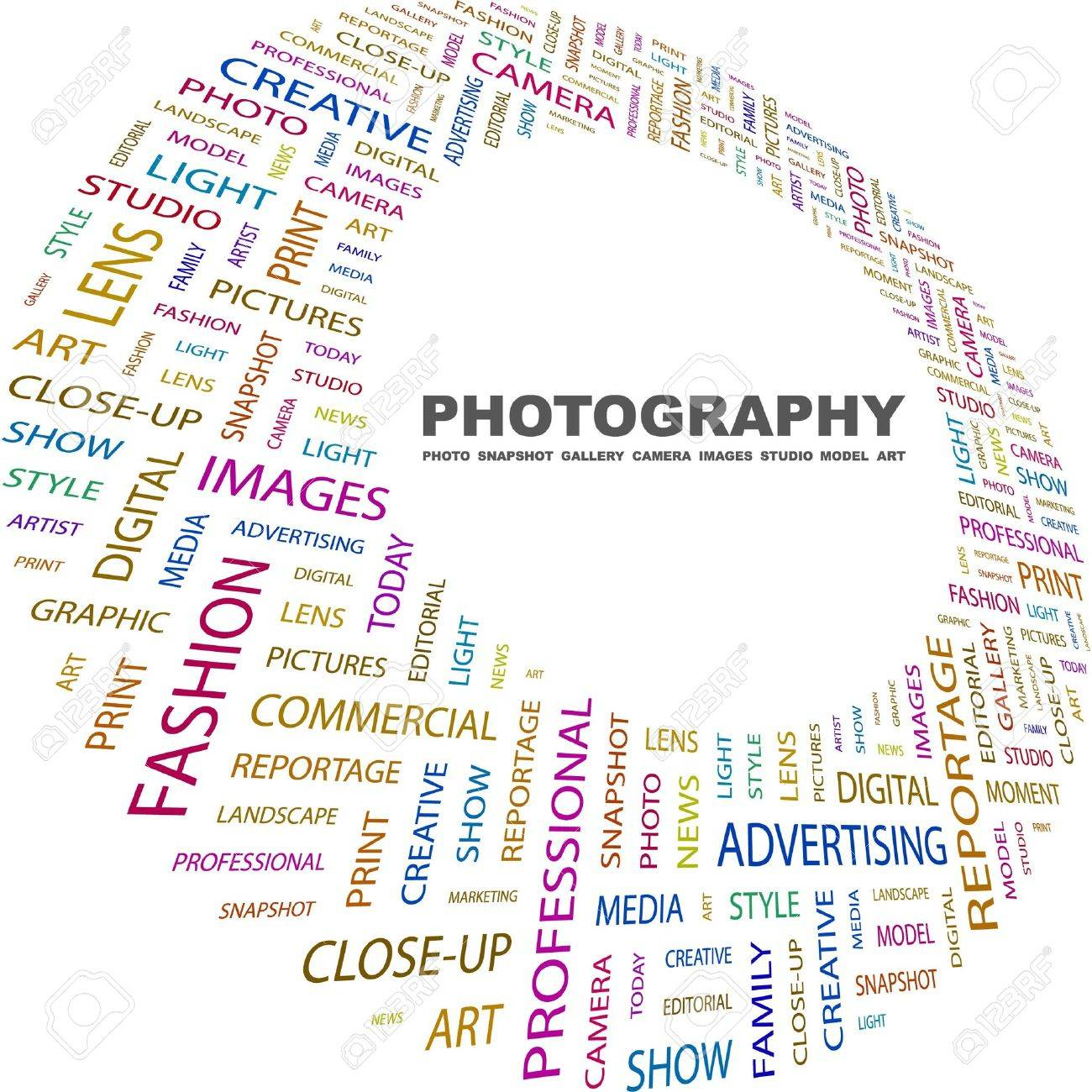 PHOTOGRAPHY. Word Collage On White Background. Vector Illustration ...