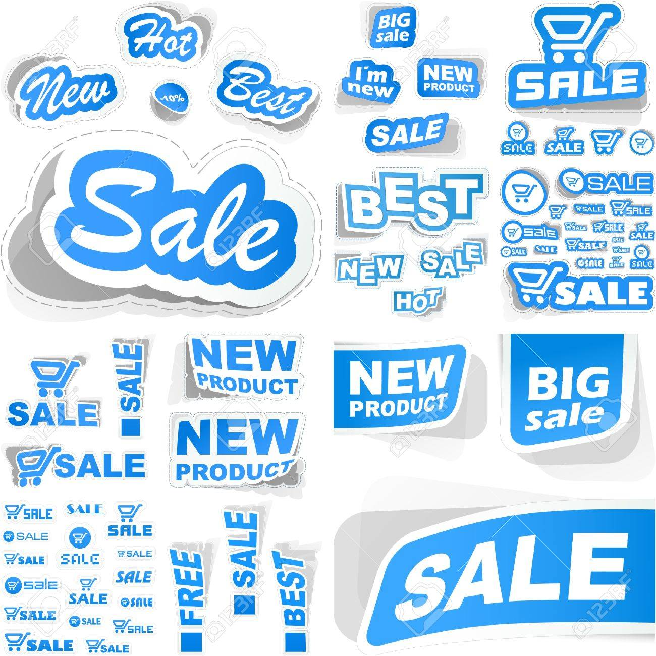 Sticker collection for sale. Great set. Stock Vector - 8890773