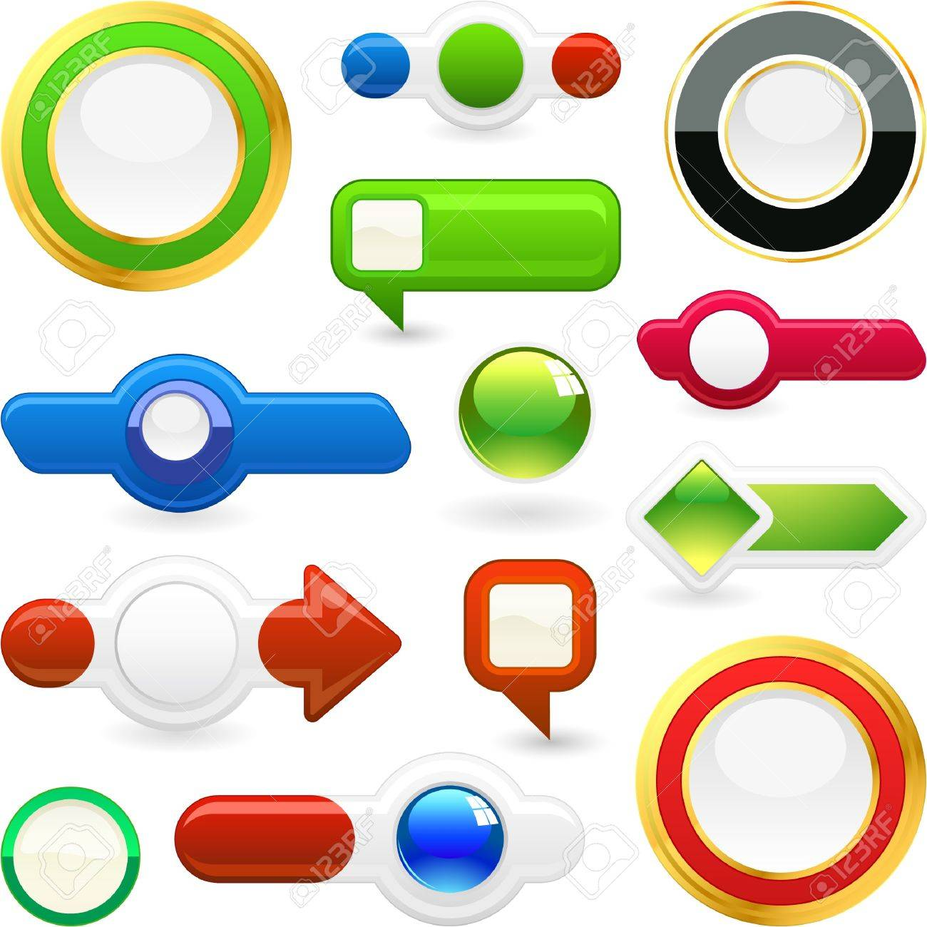 Vector set of web elements. Great collection. Stock Vector - 9024637