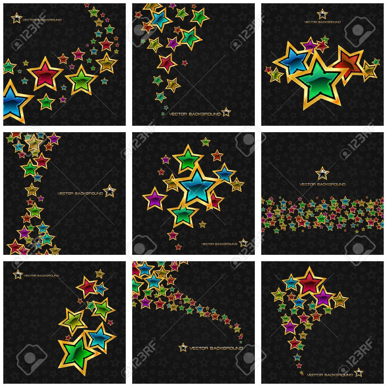 Abstract background with stars. Vector illustration. Stock Vector - 8890791