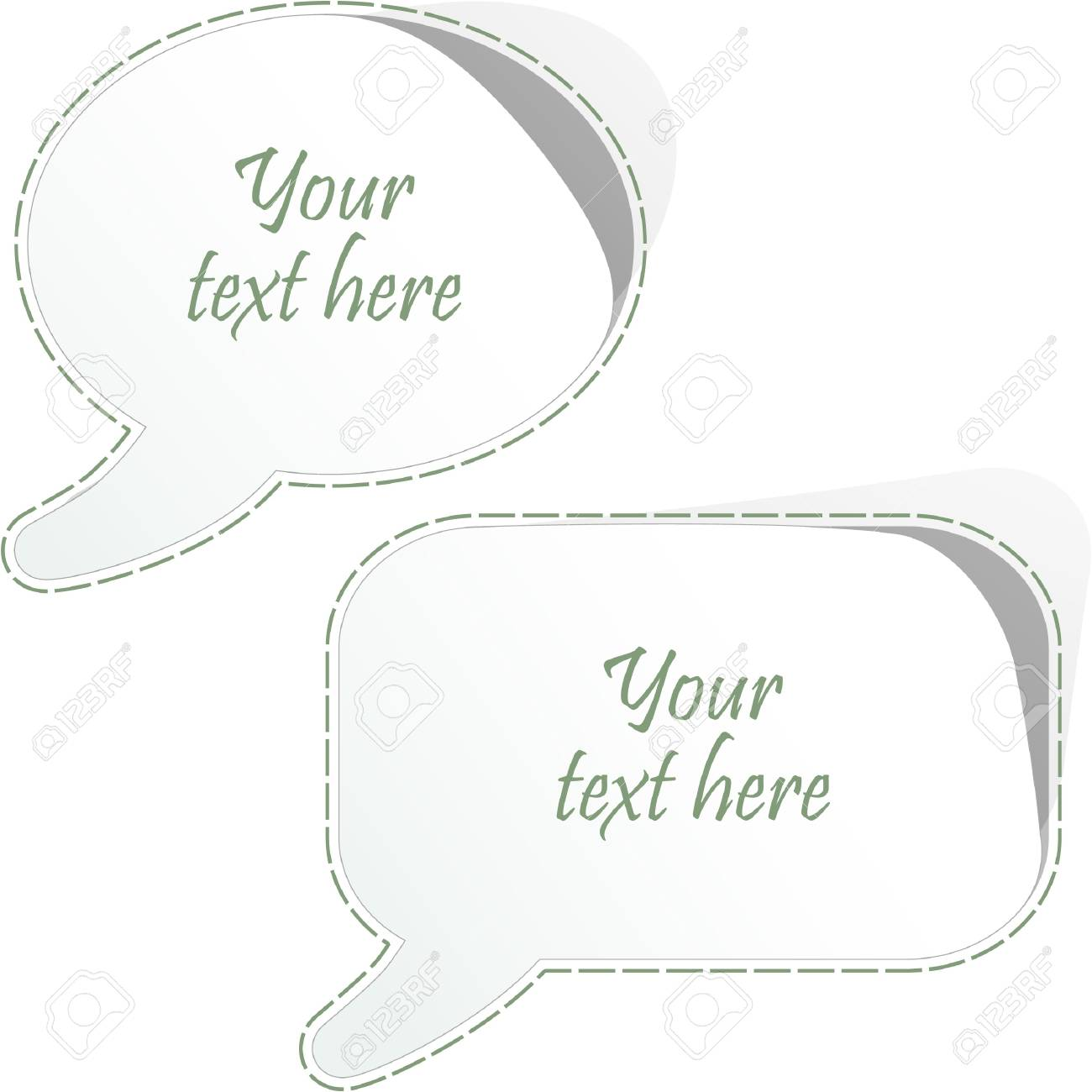 Vector speech bubble. Vector set. Stock Vector - 8890959