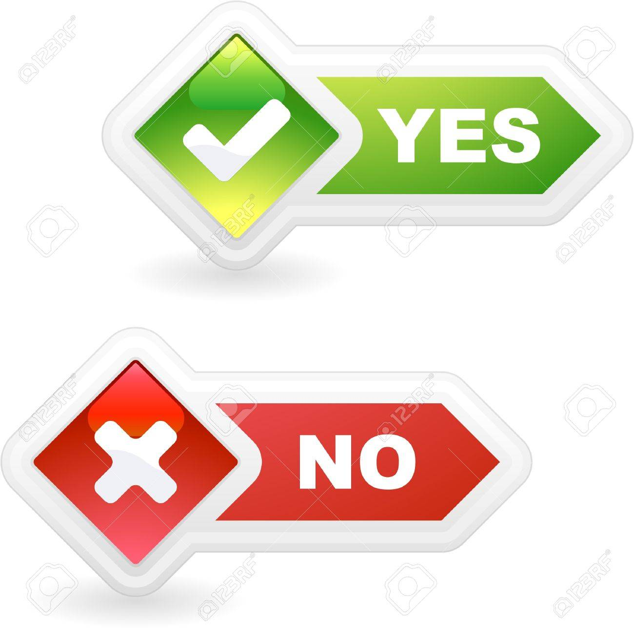 Approved and rejected button set. Stock Vector - 8890850