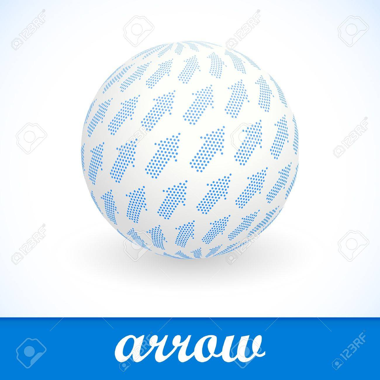 Globe with arrow mix. Vector illustration. Stock Vector - 8891126