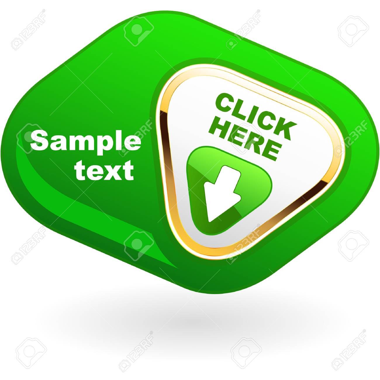 Download button Stock Vector - 9142337