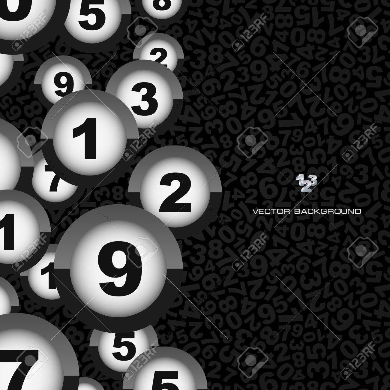 Numbers. Abstract background. Stock Vector - 9142426