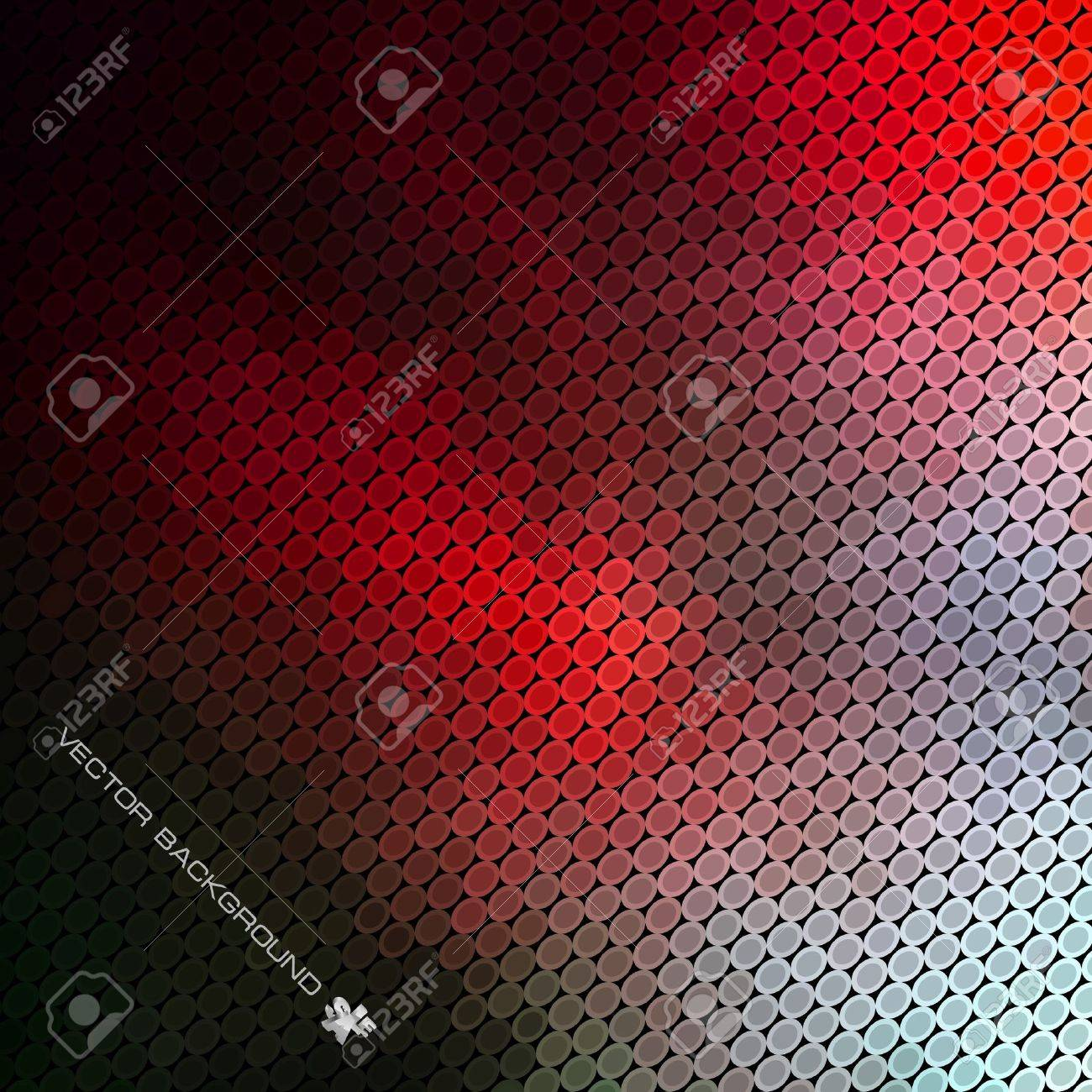 Abstract background. Bright lights on black. Stock Vector - 9392564