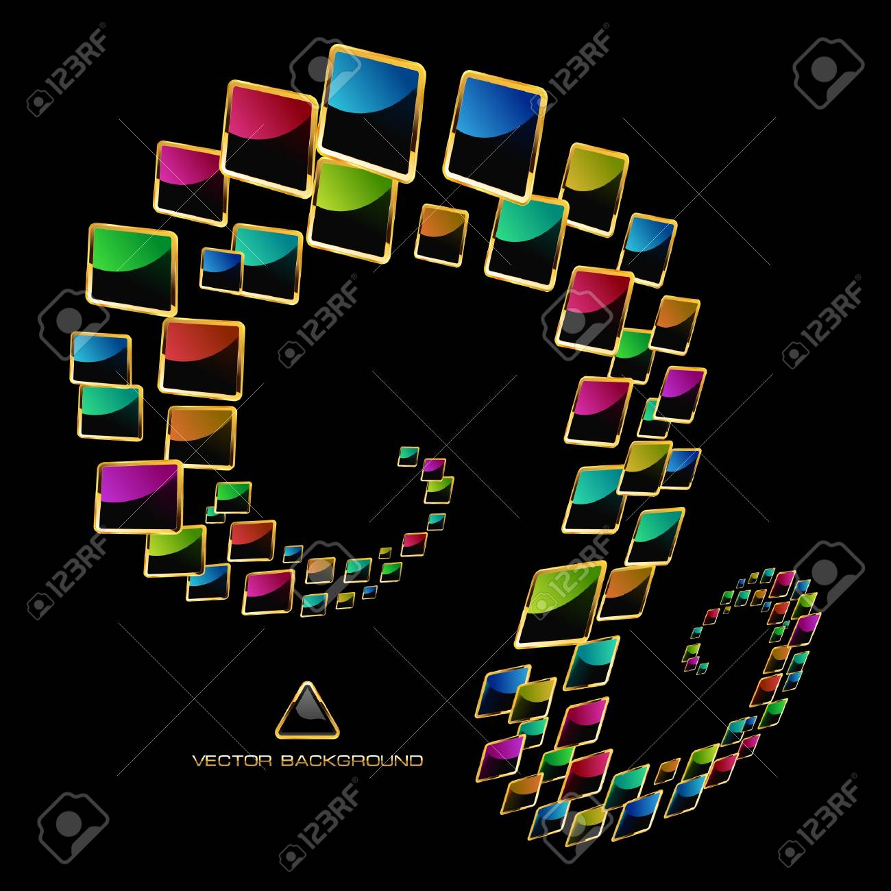 Colorful abstract background. Stock Vector - 9392577